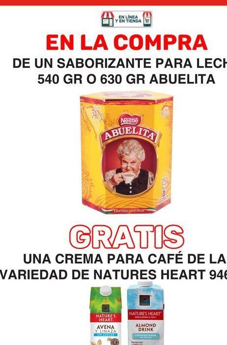 Oferta de En la compra de un saborizante para leche Abuelita Nestlé por