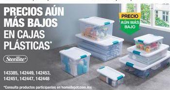 Oferta de Cajas Plásticas Sterilite por