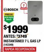 Oferta de Calentador de  agua Bosch por $1999