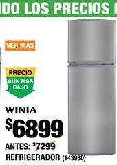 Oferta de Refrigerador Winia por $6899