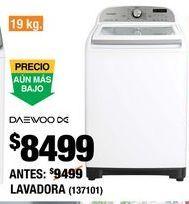 Oferta de Lavadora Daewoo por $8499