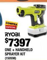 Oferta de One + Handheld Sprayer Kit Ryobi por $7398