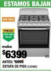 Oferta de Cocinas Mabe por $6399