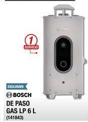 Oferta de Calentador de  agua Bosch 6 L por