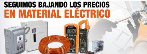 Oferta de Seguimos bajando precios en material eléctrico por