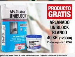 Oferta de Aplanado Uniblock Blanco 40kg por