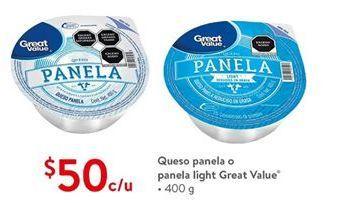 Oferta de Queso panela Great Value por $50
