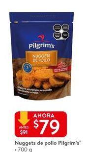 Oferta de Nuggets de pollo Pilgrim's por $79