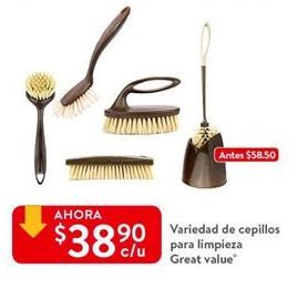 Oferta de Cepillo Great Value por $38.9