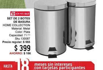 Oferta de Bote de basura baño Home Collection por