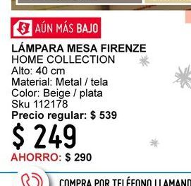Oferta de Lámpara de mesa Home Collection por