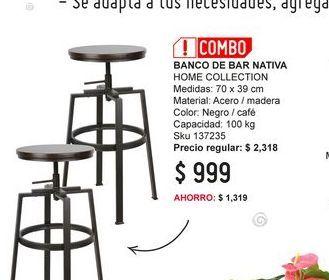 Oferta de Banco Home Collection por