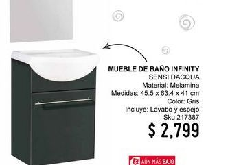 Oferta de Muebles para baño Sensi Dacqua por