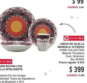 Oferta de Vajilla Home Collection por