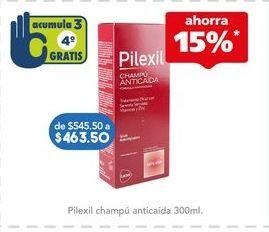 Oferta de Shampoo anticaída Pilexil por