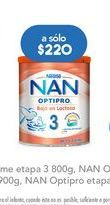 Oferta de Leche en polvo NAN por $220