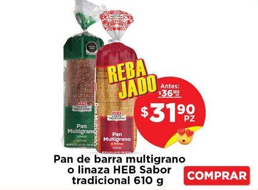 Oferta de Pan de molde HEB por $31.9