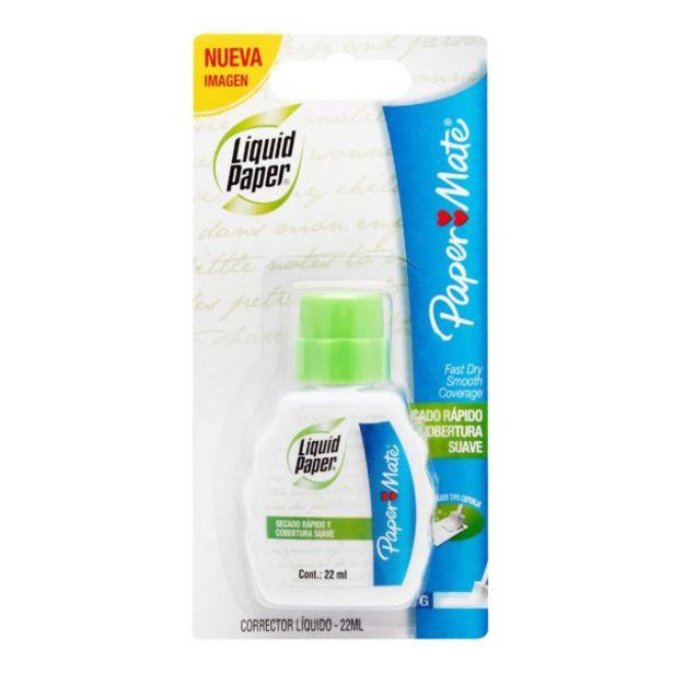 Oferta de Corrector Liquid Paper Botella Fast Dry por $21.9
