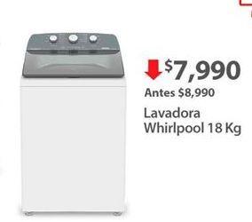 Oferta de Lavadoras Whirlpool por $7990