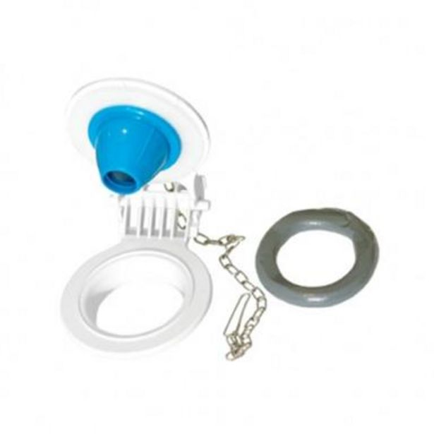 Oferta de Juego para valvula de descarga blanco 8 cm por $129