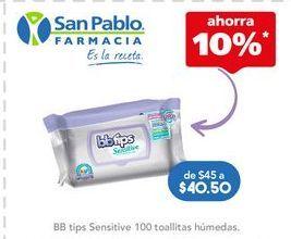 Oferta de Toallitas húmedas para bebé BBtips por $40.4