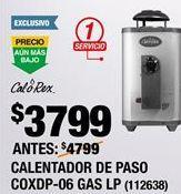 Oferta de Calentador de  agua Calorex por $3549