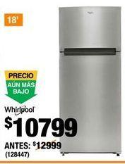 Oferta de Refrigeradores Whirlpool por $10799