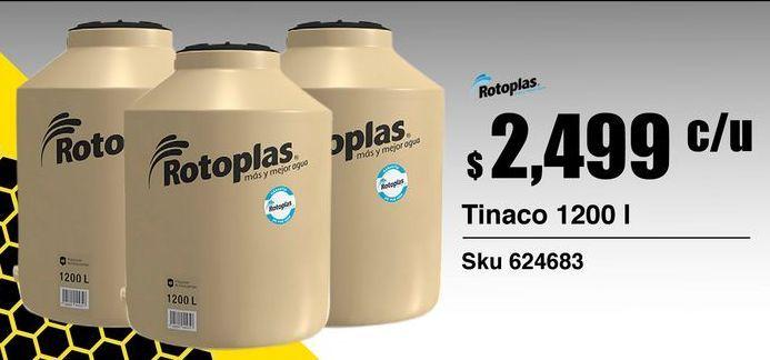 Oferta de Tinacos Rotoplas por $2499