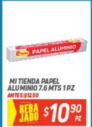 Oferta de Papel aluminio Mi Tienda por $10.9