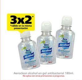 Oferta de Gel antibacterial Aeroclean 180 ml por