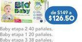 Oferta de Pañales Bio Baby etapa 3 por