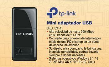 Oferta de Adaptador usb TP-Link por
