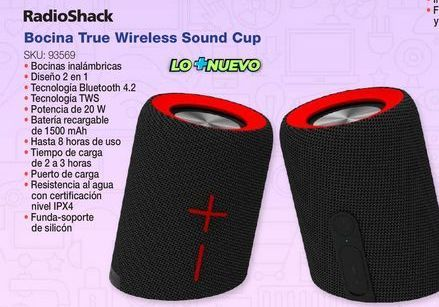 Oferta de Bocinas Radioshack por