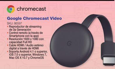 Oferta de ChromeCast Google por