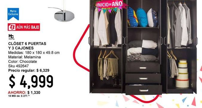 Oferta de Closets Home Collection por $4999