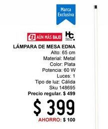 Oferta de Lámpara de mesa Home Collection por $399
