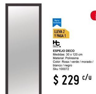 Oferta de Espejo Home Collection por $229