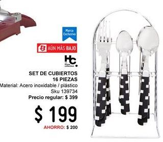 Oferta de Cubiertos Home Collection por $199