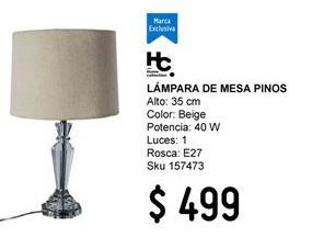 Oferta de Lámpara de mesa Home Collection por $499
