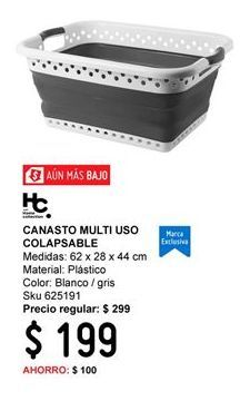 Oferta de Canasta Home Collection por $199