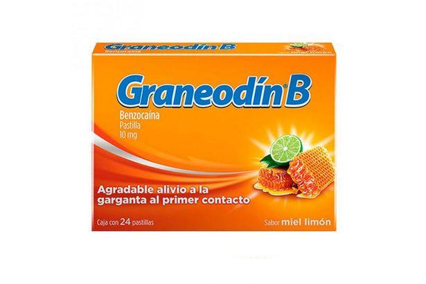 Oferta de Graneodin B 10mg Caja Con 24 Pastilla Sabor Miel-Limon por $65.5
