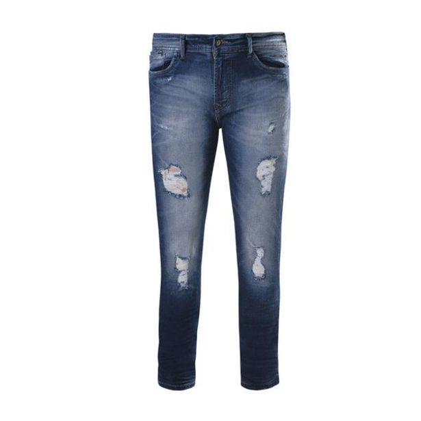 Oferta de Jeans Hippie Slim Fit Urbano Hombre 6320171 Mezclilla por $630