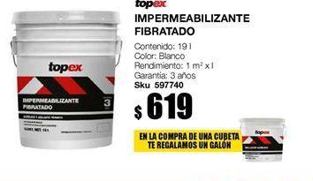 Oferta de Impermeabilizante fibrato rojo topex garantia 3 años por $619