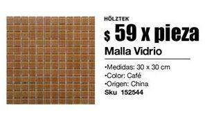 Oferta de Mallas vidrio cafe por $59