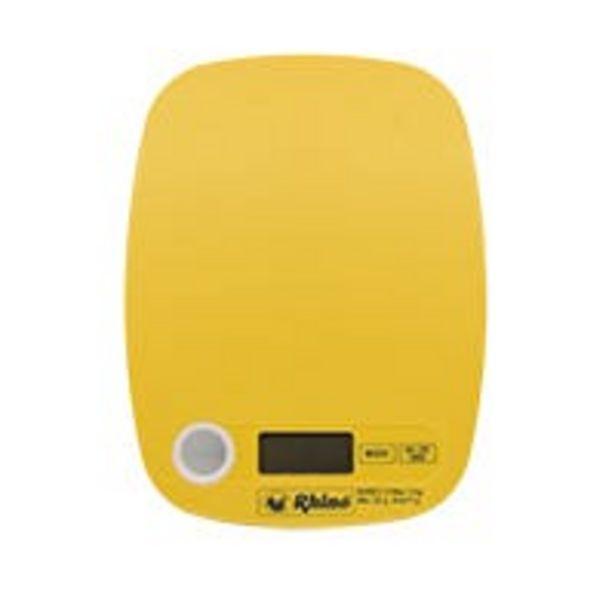 Oferta de Báscula de cocina rectangular Rhino 5kg amarilla por $186.75
