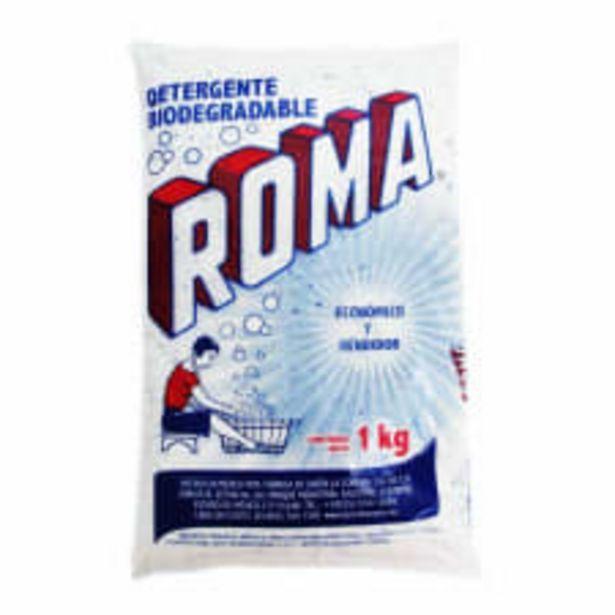 Oferta de Detergente en polvo Roma multiusos biodegradable 1 kg por $34.9