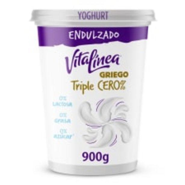 Oferta de Yoghurt Vitalínea triple cero natural 900 g por $70