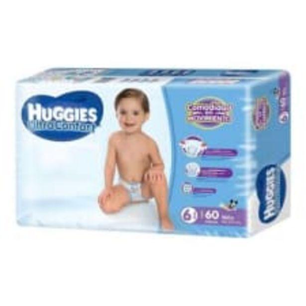 Oferta de Pañales Huggies UltraConfort etapa 6 niño 60 pzas por $349