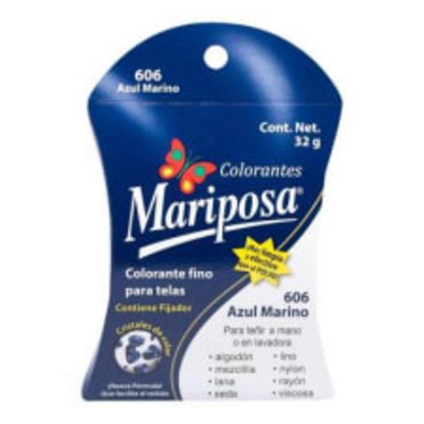 Oferta de Colorante para telas Mariposa 606 azul marino 32 g por $18.5