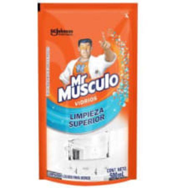 Oferta de Limpiador líquido Mr Músculo vidrios limpieza superior 500 ml por $15.5